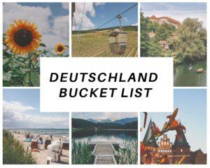 Deutschland Bucket List