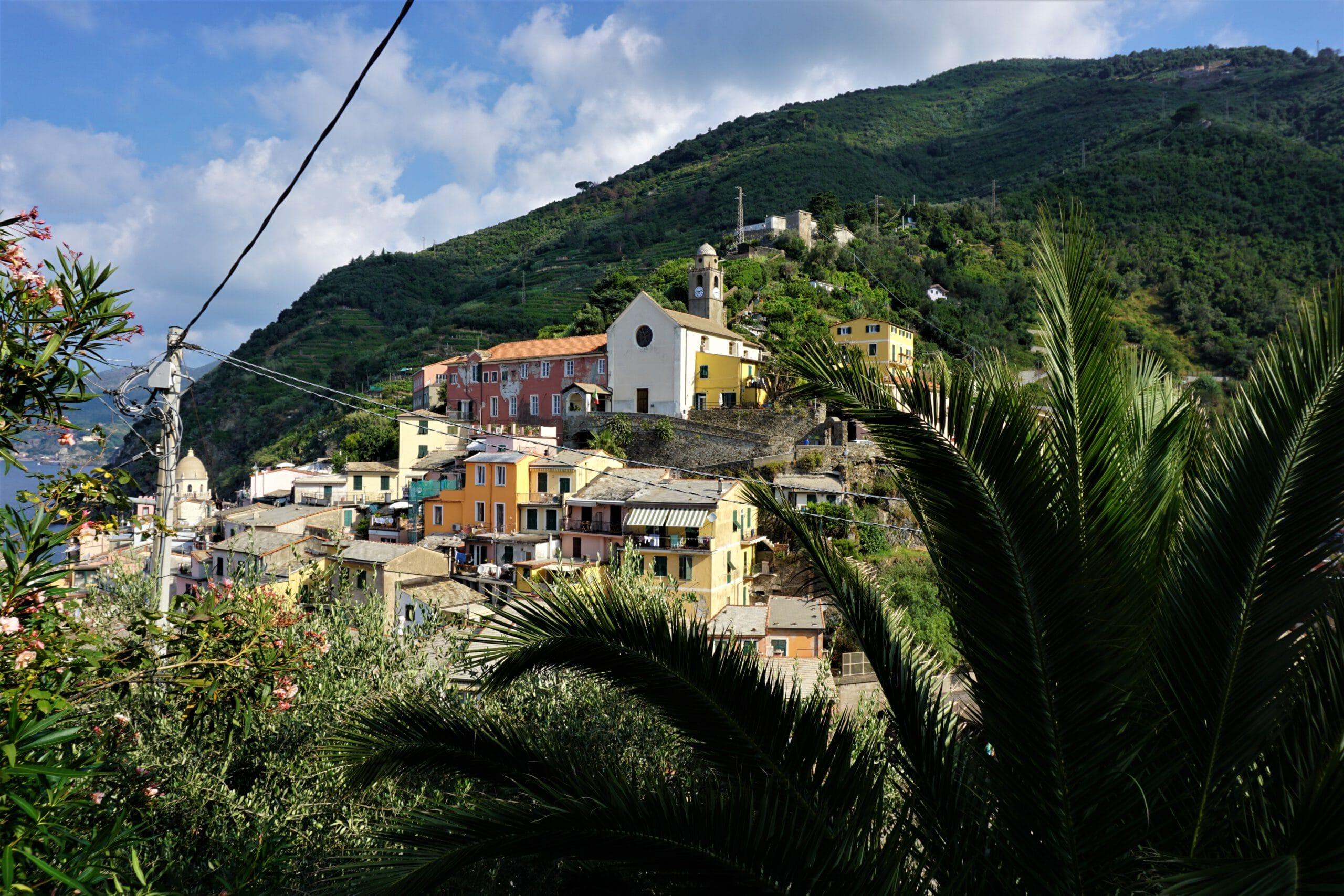 Blick auf Corniglia in cinque terre